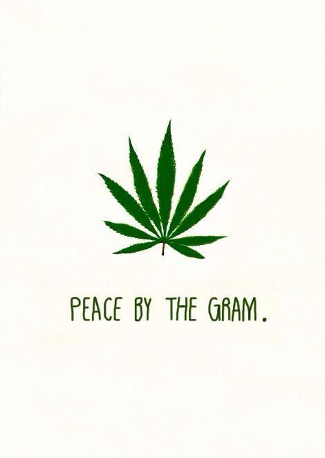 Peace by the gram