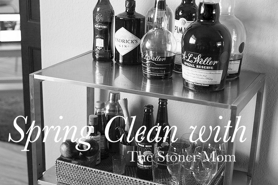 Spring Cleaning with The Stoner Mom: Bar Cart Makeover