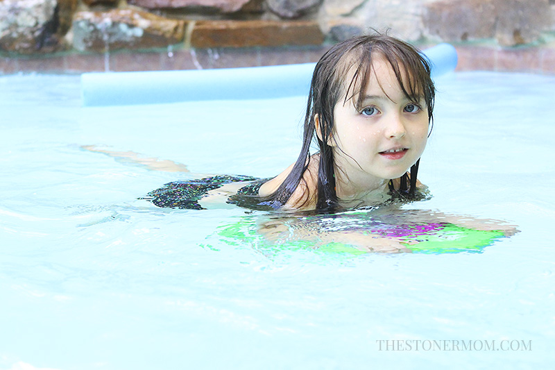 Elizabeth in the pool