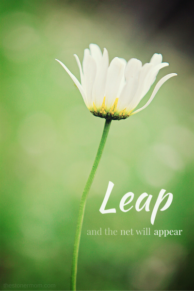 Leap and the net will appear!