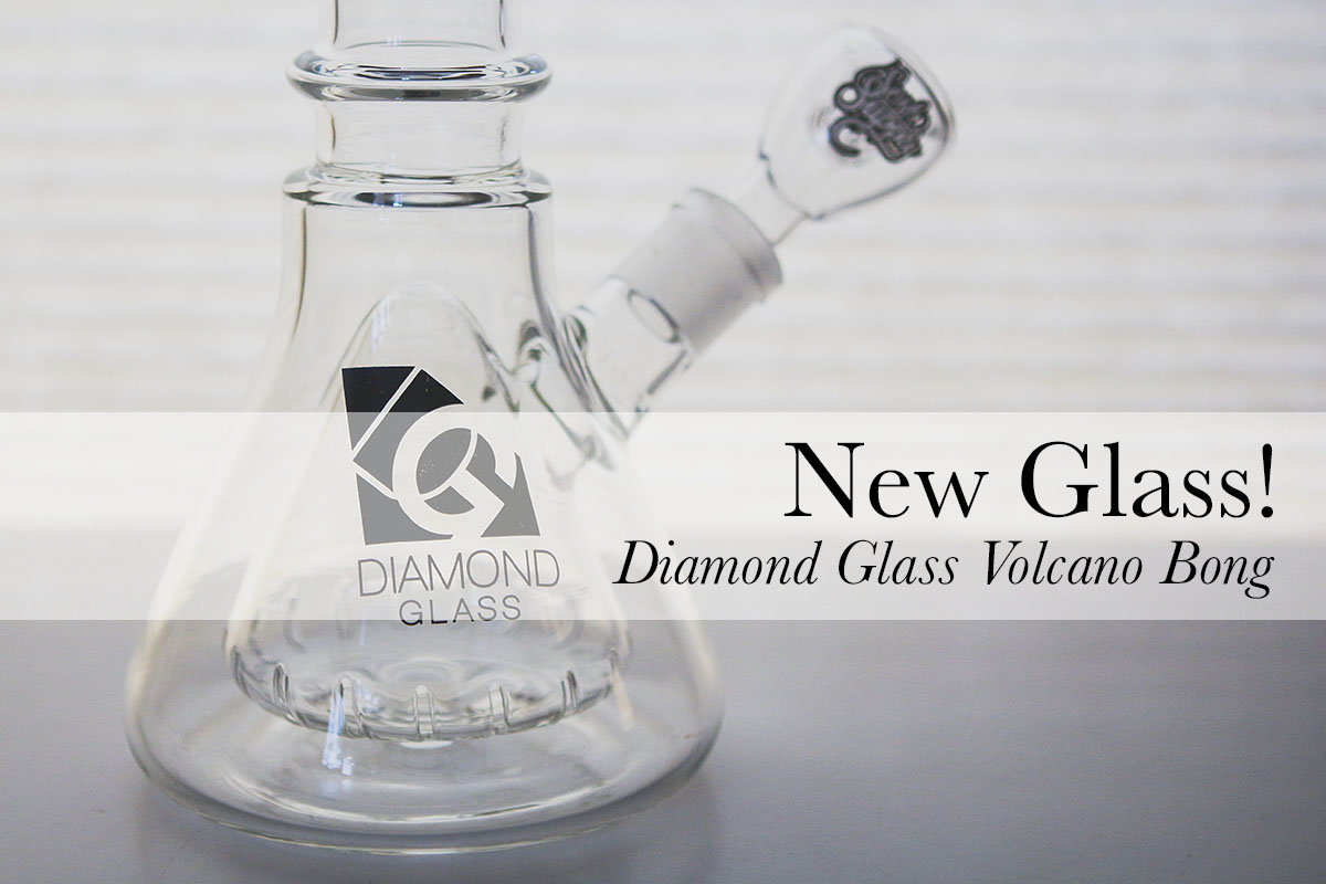 Diamond Glass Volcano Bong