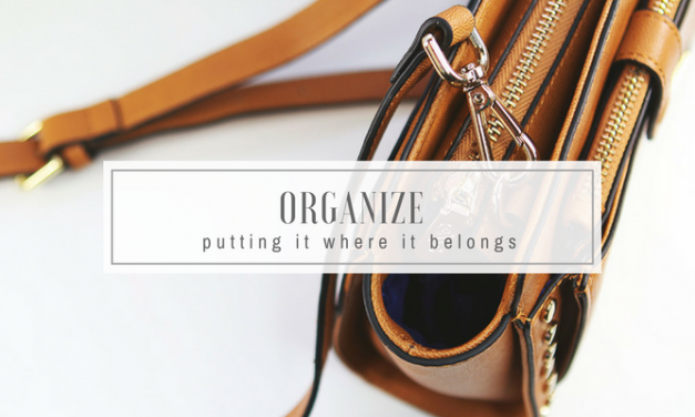 Organize | Putting it Where it Belongs | GTD for Stoners